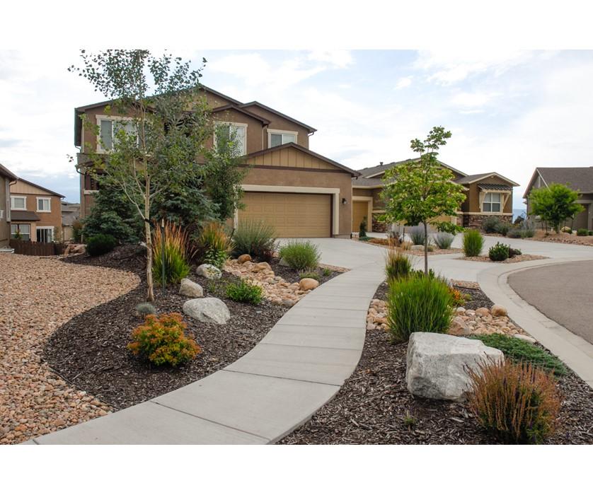 Colorado Springs Utilities Xeriscaping - Mountain Motif ... on Mountain Backyard Ideas id=91500